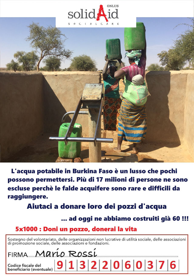 Flyer 5x1000 Solidaid Onlus
