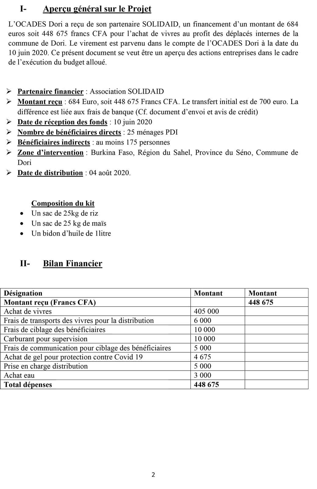 Rapport de distribution 02